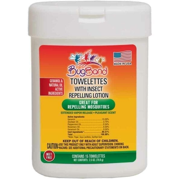 BugBand Insect Repellent Towelettes Old Packaging 15 Pack