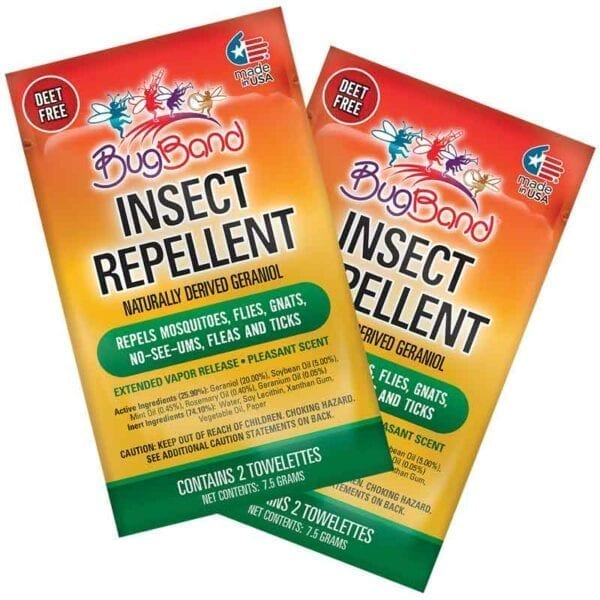BugBand Insect Repellent Towelettes Old Packaging 2 Pack